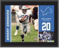 Detroit Lions Barry Sanders 10.5'' x 13'' Sublimated Plaque - Mounted Memories