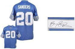 Sanders, Barry Auto (lions) (blue/swingman) Jersey