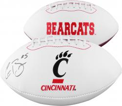 Connor Barwin Cincinnati Bearcats Autographed White Panel Football