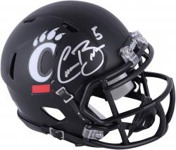 Connor Barwin Cincinnati Bearcats Autographed Black Riddell Mini Helmet - Mounted Memories