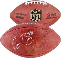 Connor Barwin Philadelphia Eagles Autographed Duke Pro Football - Mounted Memories