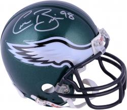 Connor Barwin Philadelphia Eagles Autographed Green Riddell Mini Helmet - Mounted Memories