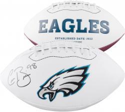 Connor Barwin Philadelphia Eagles Autographed White Panel Football