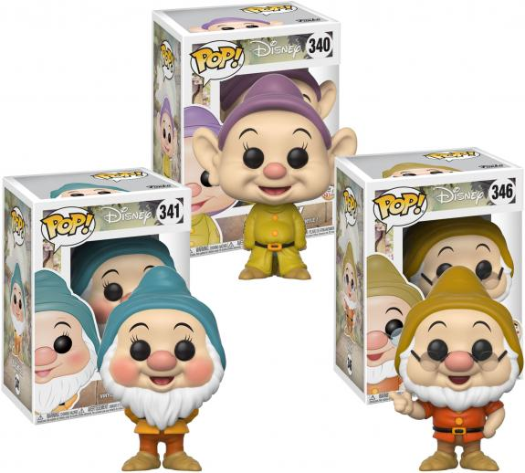 Bashful, Doc & Dopey Snow White Funko Pop! Bundle