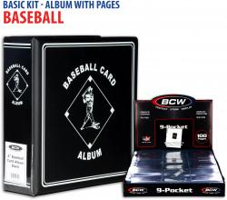 Basic Baseball Album Kit with Pages - Mounted Memories