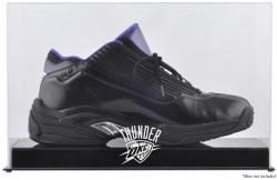 Oklahoma City Thunder Team Logo Basketball Shoe Display Case