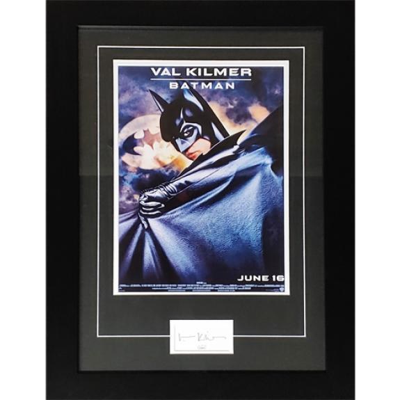 Batman 11×17 Movie Poster Deluxe Framed with Val Kilmer Autograph – JSA