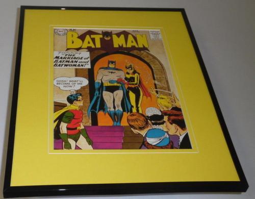 Batman #122 Framed 11x14 Repro Cover Display Batwoman Wedding