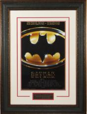 Batman (1989) unsigned 20x28 Masterprint Movie Poster Leather Framed w/ Jack Nicholson & Michael Keaton (entertainment/photo)