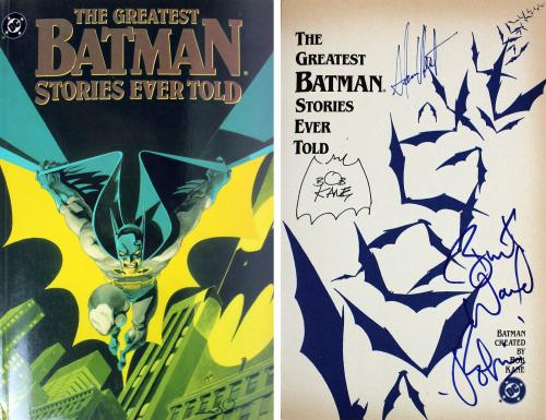 Batman (3) West, Ward & Kane Signed Greatest Batman Stories Ever Told Book BAS