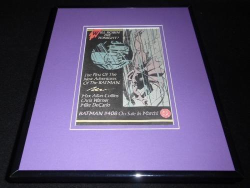 Batman #408 1987 DC 11x14 Framed ORIGINAL Vintage Advertisement