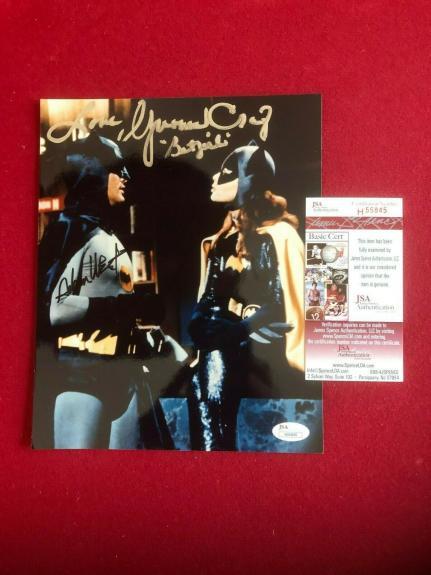 "Batman (Adam West) / Batgirl (Yvonne Craig), ""Autographed"" (JSA) 8 x 10  Photo"