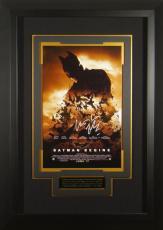 Batman Begins Christian Bale Signed 11x17 Poster Framed