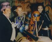 Batman Burgess Meredith Frank Gorshin Lee Meriwether Signed 8x10 Beckett Bas Coa