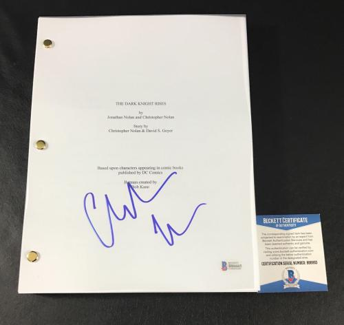 Batman Christian Bale Signed Autographed Dark Knight Rises Full Movie Script Bas
