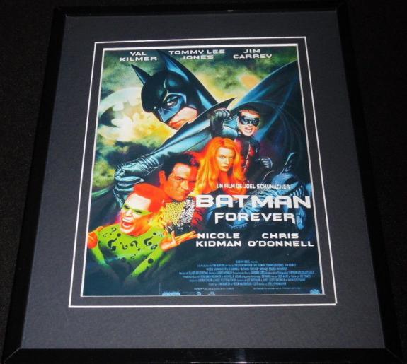 Batman Forever Framed 8x10 Repro Poster Display Val Kilmer Jim Carrey