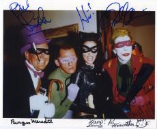 Batman Group Signed Autographed Photo Adam West Meredith Romero Beckett Bas