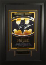 Batman Jack Nicholson Michael Keaton Signed 11x17 Poster Fra