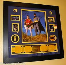 BATMAN ROBIN Adam West Burt Ward signed autographed 16x20 UTILITY BELT FRAMED MM