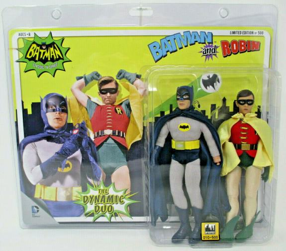 BATMAN & ROBIN Batman Classic TV ~ 2 pck DC 8in Action Figures ~ Figure Toy Co