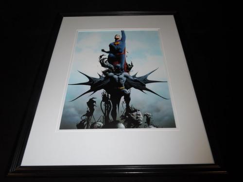 Batman Superman 2015 DC New 52 Framed 11x14 Photo Poster