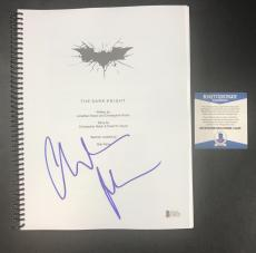 Batman The Dark Knight Christian Bale Signed Autographed Full Movie Script Bas