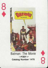 Batman the Movie RARE 1988 CBS Fox Promotional Playing Card Adam West Burt Ward