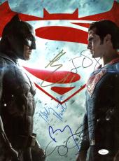 Batman vs Superman (Affleck, Cavill +4) Signed 12x16 JSA #Z03106