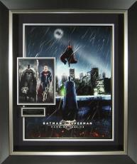 Batman vs Superman Dawn of Justice Cast Signed Poster Framed