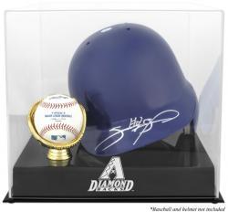 Arizona Diamondbacks Batting Helmet with Ball Holder Logo Display Case