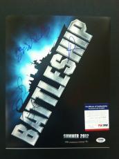 Battleship Cast 4 Signed 11x14 Photo Psa Autograph Tadanobu Asano Taylor Kitsch