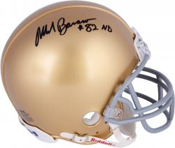 Mark Bavaro Notre Dame Fighting Irish Autographed Riddell Mini Helmet - Mounted Memories