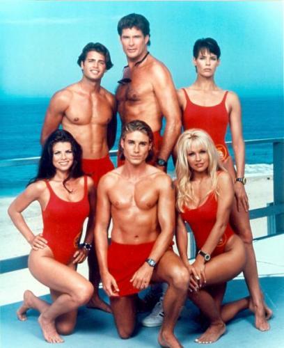 Bay Watch Pamela Anderson David Hasselhoff Yasmine Bleeth cast 8x10 photo Image #1