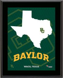 BAYLOR BEARS (STATE) 10x13 PLAQUE (SUBL) - Mounted Memories