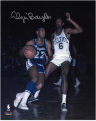 "Elgin Baylor Los Angeles Lakers Autographed 8"" x 10"" Dribbling vs. Boston Celtics Photograph"