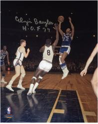 "Elgin Baylor Los Angeles Lakers Autographed 8"" x 10"" Shooting Photograph with ""HOF 77"