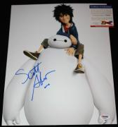 BAYMAX Scott Adsit signed & sketched 11 x 14, Big Hero , Disney, PSA/DNA