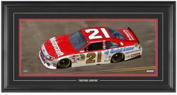 Trevor Bayne Framed Mini Panoramic with Facsimile Signature - Mounted Memories