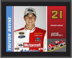"""Trevor Bayne 2012 Wood Brothers Sublimated 10.5"""" x 13"""" Driver Photo Plaque"""