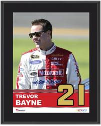 "Trevor Bayne Sublimated 10.5"" x 13"" Plaque - Mounted Memories"