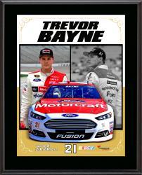 Trevor Bayne Sublimated 10.5'' x 13'' Stylized Composite Plaque