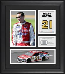 "Trevor Bayne Framed 15"" x 17"" Collage with Race-Used Tire"