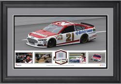 Trevor Bayne Framed Collage with Race-Used Tire-Limited Edition of 500 - Mounted Memories