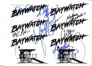"BAYWATCH"" Signed by7 - Including ANDRADA, PACKARD, and BRIDGES Signed 11x8.5 Paper Thin"