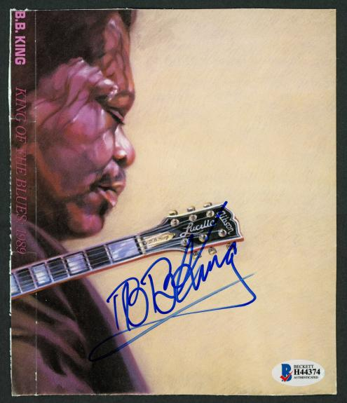 B.B. BB King Autographed 6x7 CD Cover Singer Beckett BAS #H44374