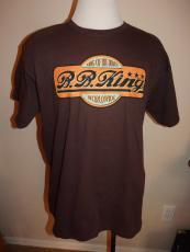 BB B.B. King of Blues Worldwide Concert Tour T Shirt Men XL Brown Cities