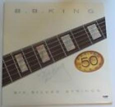 b.b. bb king signed album 50th six silver strings psa dna coa blues music legend