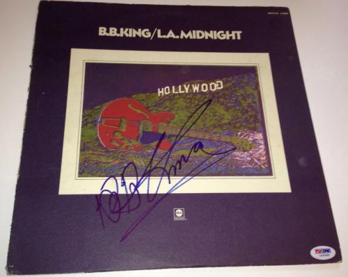 b.b. bb king signed album l.a. midnight lp autographed with psa dna coa