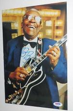 B.B. BB KING Signed Autographed In Concert PHOTO Blues Legend PSA DNA