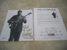 """BB Kind Vintage Live Signed Autographed 8x10 Photo W """"Best To You"""" PSA Certified"""